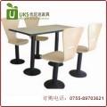 快餐桌椅定做 小吃店快餐厅固定脚桌椅定做 深圳优尼克家具