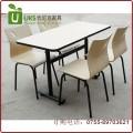 钢木餐桌 小吃店快餐桌椅 分体快餐桌椅厂家批发定做