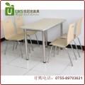 钢木结构快餐桌椅 小吃店快餐厅餐桌椅定做直销 深圳优尼克家具
