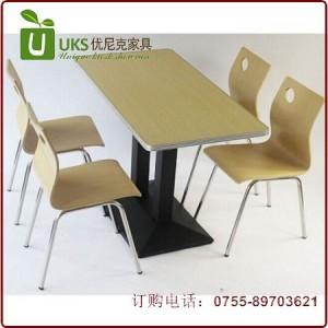 精品餐桌椅组合 小吃店快餐厅桌椅 梯形台脚快餐桌椅 厂家直销订做