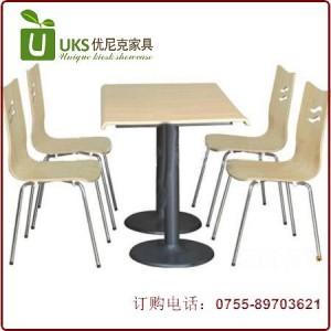 专业订做 小吃店快餐厅奶茶店甜品店桌椅 快餐桌椅厂家直销质保两年