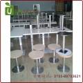 简约分体快餐桌椅 方桌板圆椅子组合 深圳优尼克家具专业订做