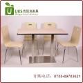 不锈钢桌脚快餐桌椅 简约、美观、经久耐用的快餐桌椅 优尼克专业定制