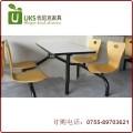 快餐桌椅专业订做 小吃店快餐厅连体快餐桌椅 厂家直销质保两年